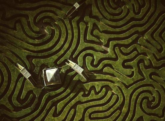 Longleat hedge maze, Wiltshire, England.